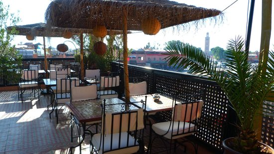 Riad Andalla : Terrasse idéalement située