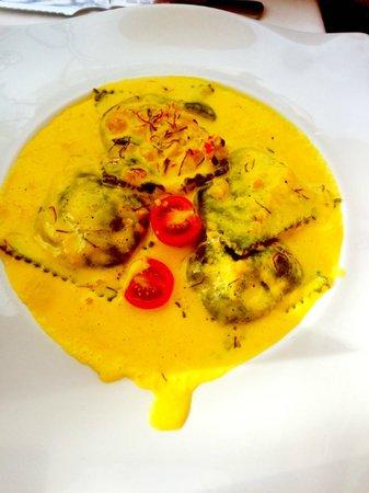Restaurante Randemar : ravioli de bogavante al azafran