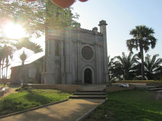 Sassandra, Ivory Coast: TheP arish Church of St Andre with its Rose Window and Bell Tower