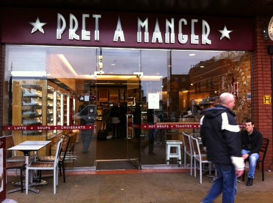 Pret a Manger: Typical Front
