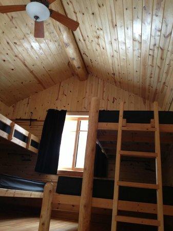 Lake Bemidji State Park: double bunk beds