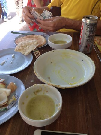 Delicious Israel - Private Culinary Walking Tours: ...and hummus after I was done with it