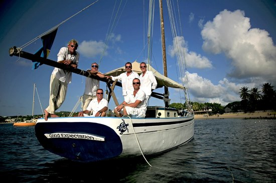 Jus' Sail : The best way to get to a beach wedding...