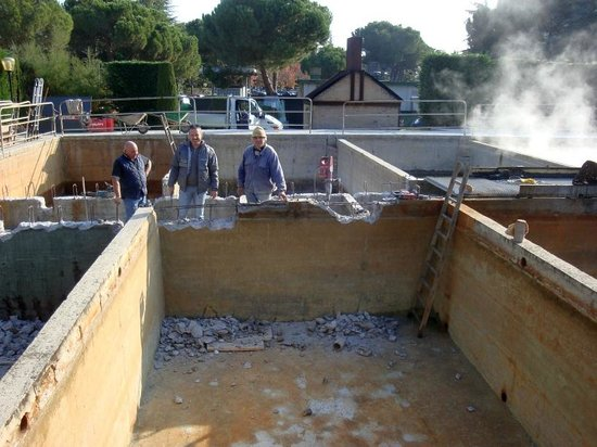 Continental Terme Hotel: L'entretien des cuves à fango