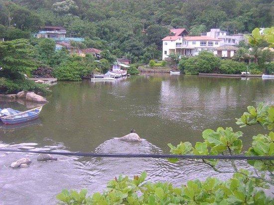 Barra da Lagoa Beach: Vista desde el puente