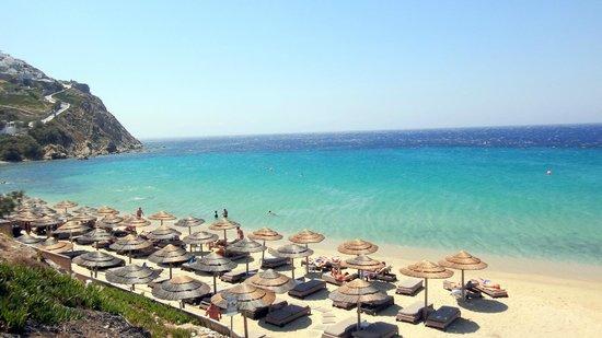Myconian Imperial Resort: Praia Particular em Elia