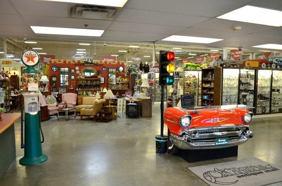 Goodyear, AZ : Our greeters desk is a '57 Chevy