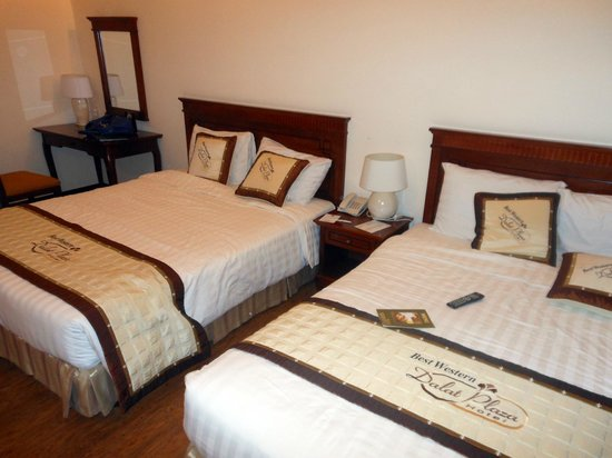 Dalat Plaza Hotel : Spacious room, twin bed ( both queen size)