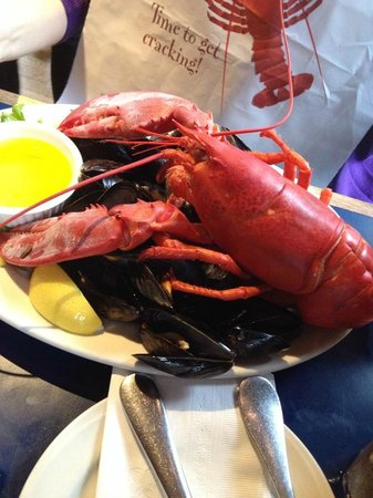 """Boston Sail Loft Restaurant : Lobster with a """"side"""" of mussels"""