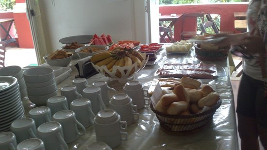 Bossa in Rio Hostel: Ótimo café da manhã.