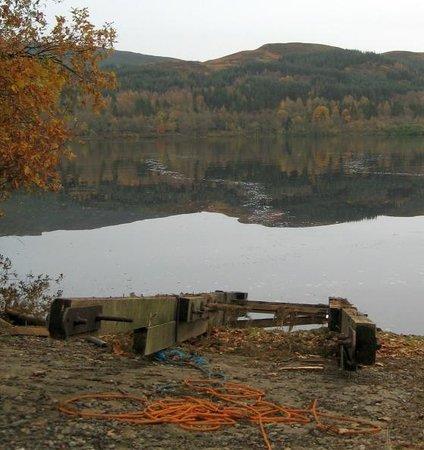 Venachar Lochside: Beside the jetty