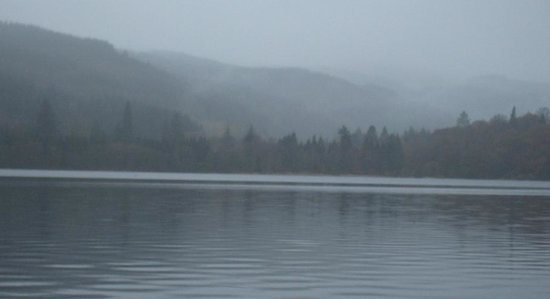 Venachar Lochside: Beautiful, even in the rain
