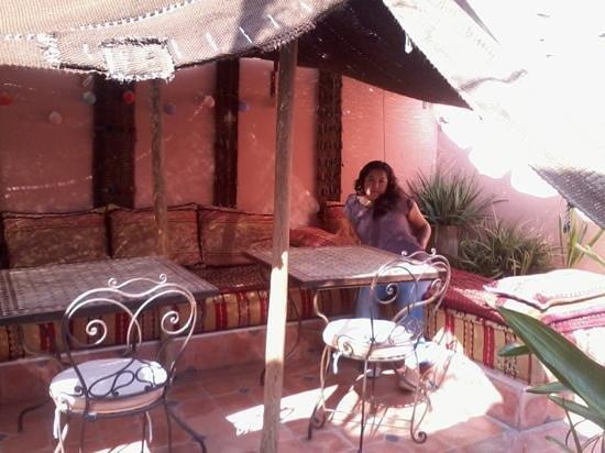 Aquarelle Riad: Terraza