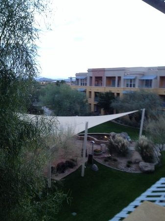 Marriott's Canyon Villas: View from the room - the new courtyard with shade