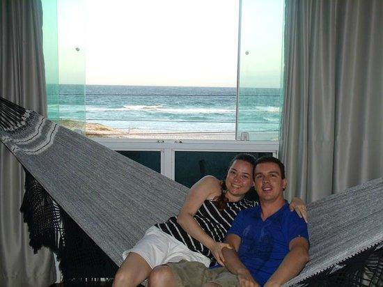 Pousada Laguna : Rede dentro do quarto com vista para o mar. Perfeito!