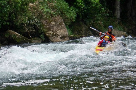 Canoe & Kayak Tours: Peter and Ezra paddling a grade two.
