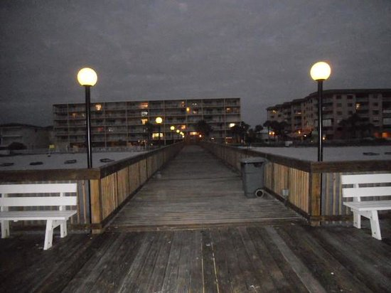 Sand Dollar Condominiums : View from the private jetty