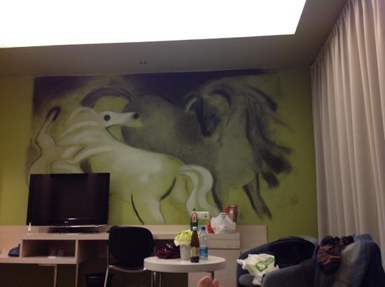 Art hotel Pallas by Tartuhotels : лошадки