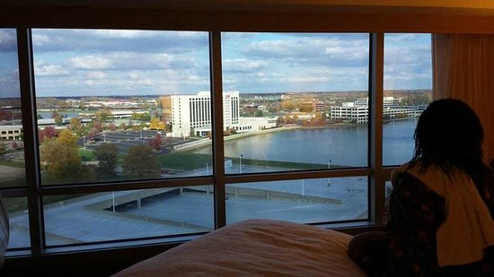 Sheraton Indianapolis Hotel at Keystone Crossing : The awesome view from the corner suite on the East side of the hotel