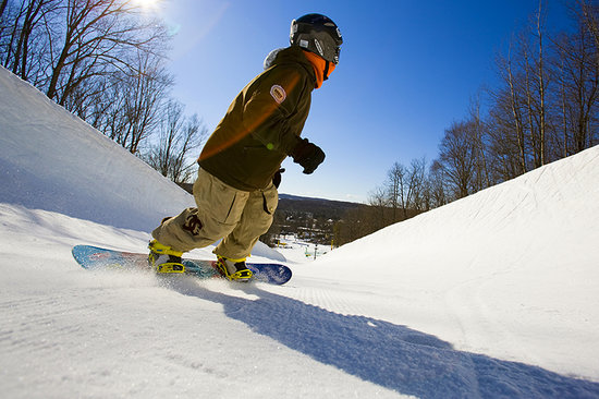 Snowboarding near Traverse City