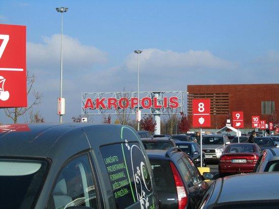 Akropolis: de parkeerplaats