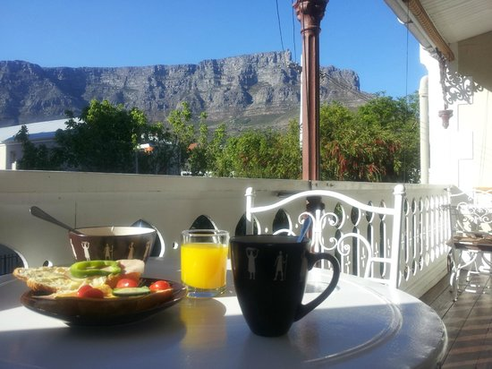 Villa Cape Adventures: Breakfast balcony