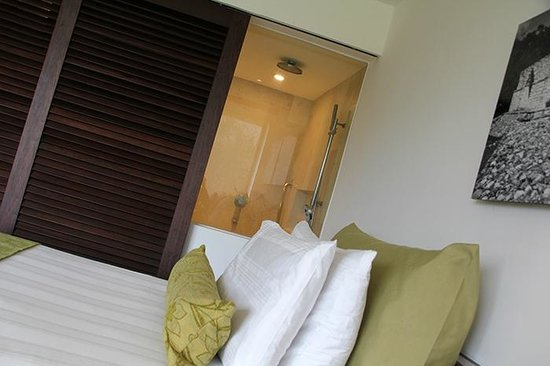 Presidente InterContinental Cancun Resort: You can see into the shower from the room :)))