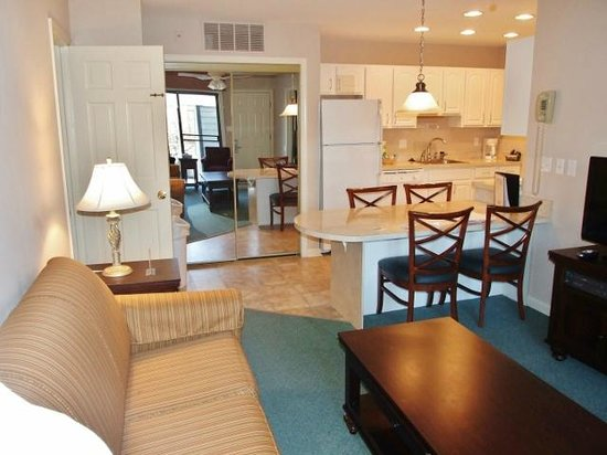 Living room looking toward the kitchen picture of club - 2 bedroom suites in ocean city md ...