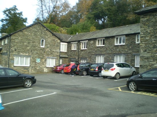 The Windermere Hotel: Our 'freebie' parking space outside our room.