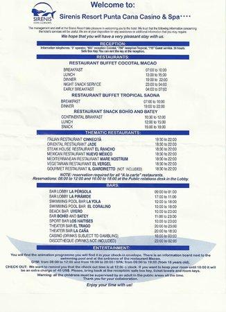 Sirenis Punta Cana Resort Casino & Aquagames: map of hotel