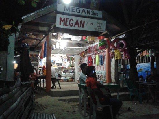 Sipalay, Filippine: Megan's on the beach.