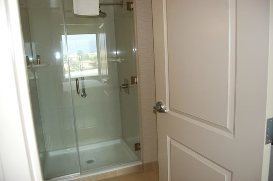 Embassy Suites by Hilton Ontario-Airport: Nice shower with glass door