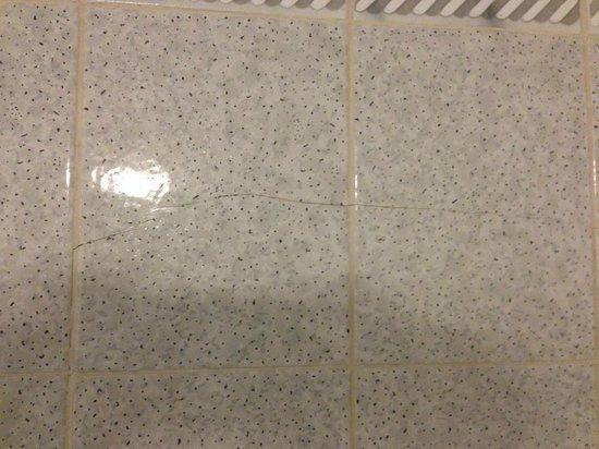 Holiday Inn Haydock M6, Jct 23: Broken tiles.
