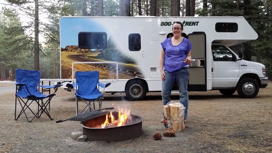 Tahoe Valley Campground: Fire