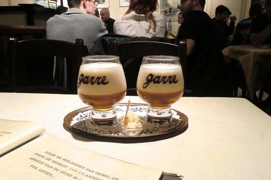 Staminee De Garre: house Garre beer - amazing!!