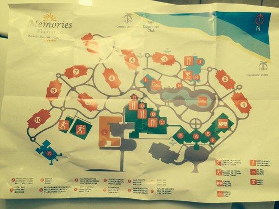 Memories Flamenco Beach Resort Flamenco Map