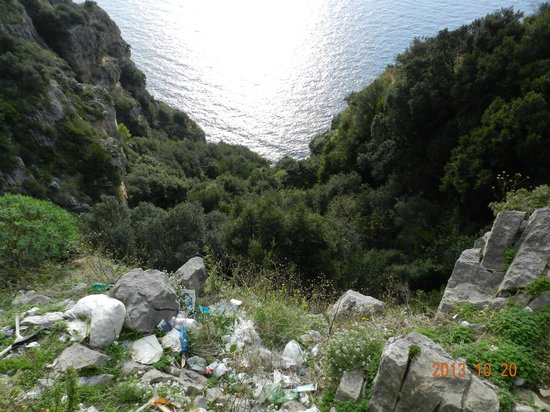 Private Day Tours: Looking down from the road on the Amalfi Coast Drive