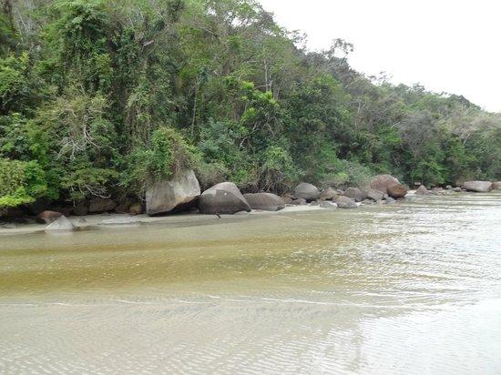 Pousada Kaliman: Encontro do rio e o mar