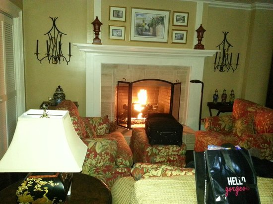Highlands House Bed &Breakfast : fire place in room