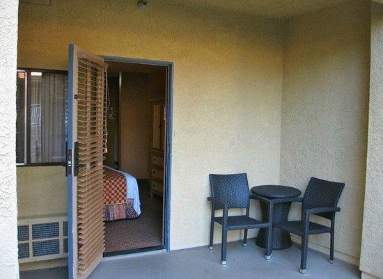 Catalina Canyon Resort & Spa: Patio area by room