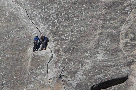 Rock climbers behind the hotel - Picture of The Majestic
