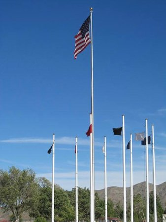Veterans Memorial Park: Flags at Memorial