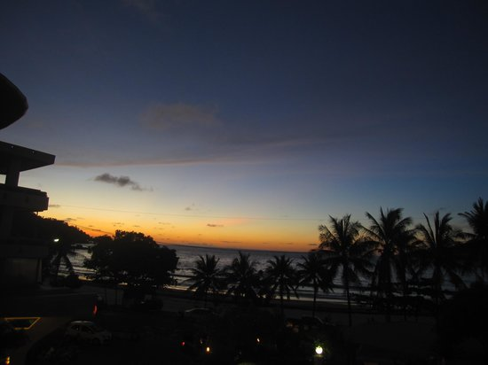 The Bliss: sunset from our room