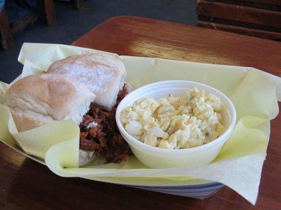 Shotgun Willie's: BBQ brisket slider platter