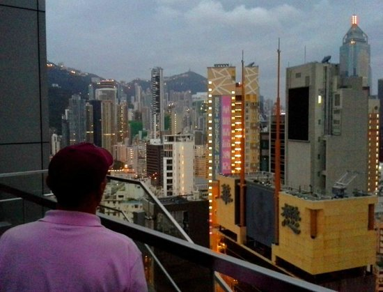 Crowne Plaza Hotel Hong Kong Causeway Bay: View from the roof-top patio/bar/pool.