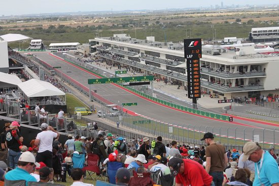 Circuit of The Americas: GA area in front of suites  in Turn 1