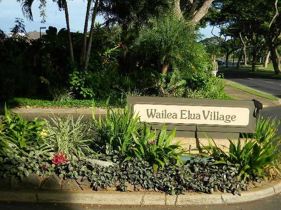Wailea Elua Village: road sign entrance