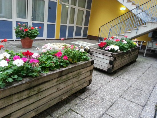 Hotel Meier City Munich: Flowers outside our room