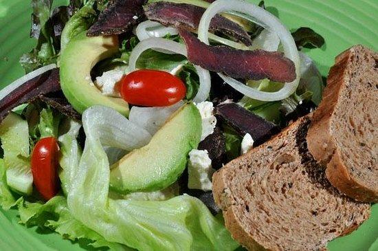 Safety Stop Koh Tao: Biltong and Avo salad