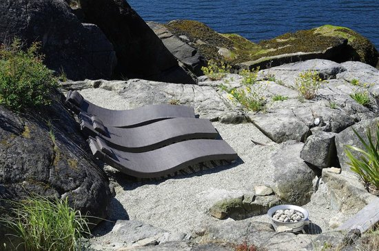The Pointhouse at Sargeant Bay: Point beach and new fire pit